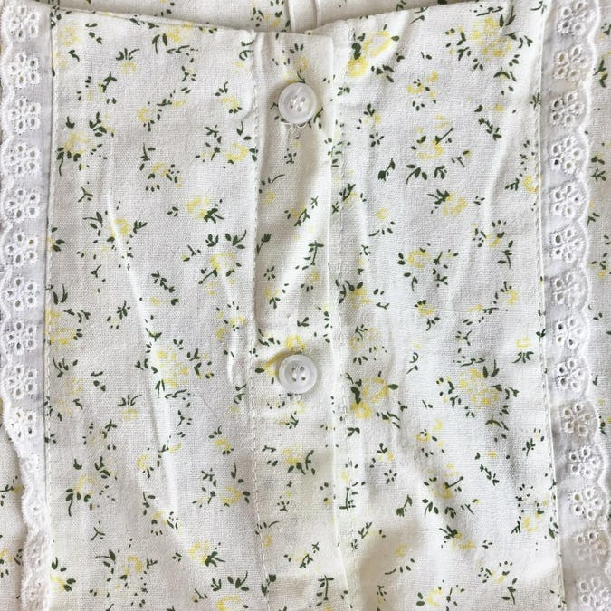 french petite flower blouse