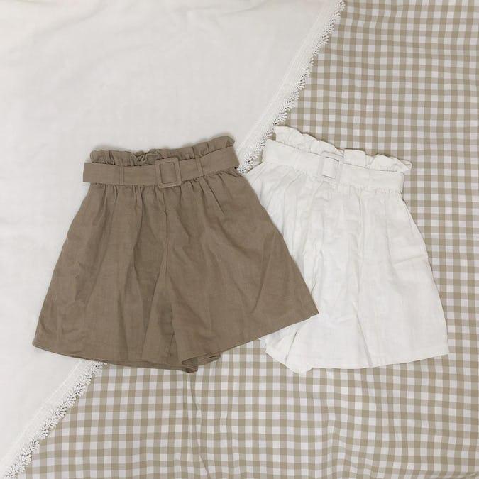 linen short pants-0