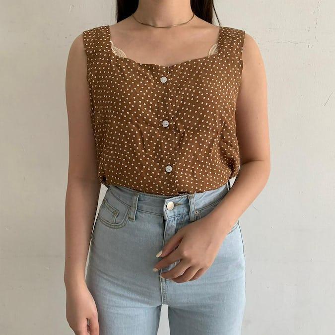 brown dot no sleeve