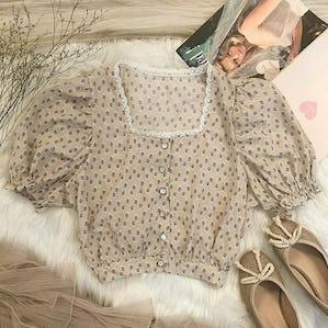 antique square blouse