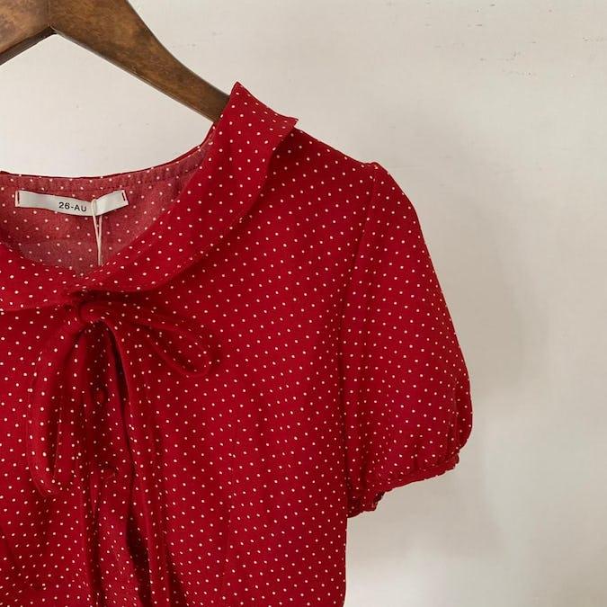 toy dot blouse