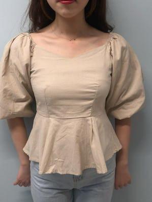 v line 2way blouse