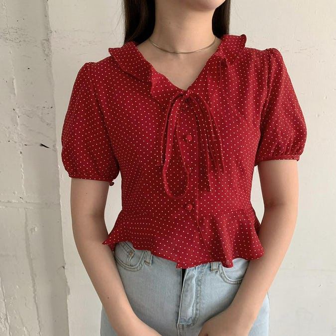 toy dot blouse-0