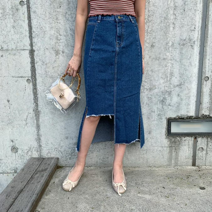 long denim skirt-0