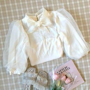 princess tulle blouse