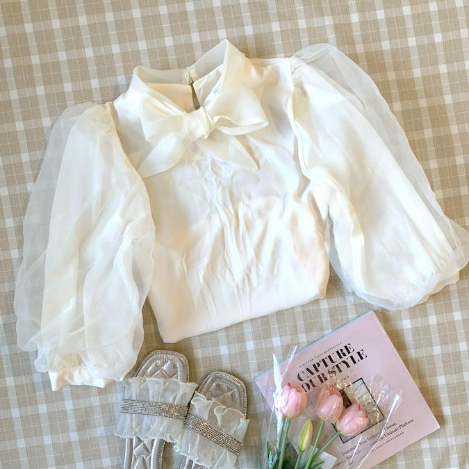 princess tulle blouse-0