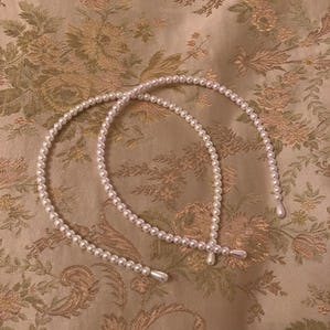 lady pearl headband set