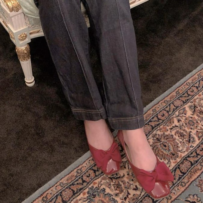 square ribbon ballet shoes-0