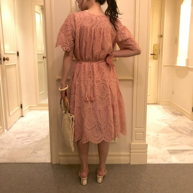 punching lace onepiece