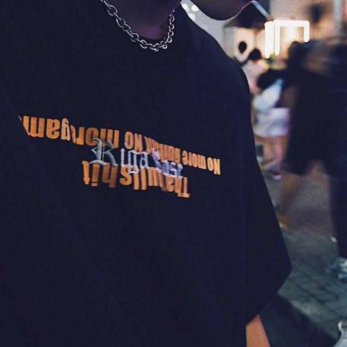 Riga rose LOGO t-shirt by Yudai