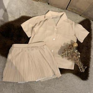 pleats mini skirt setup