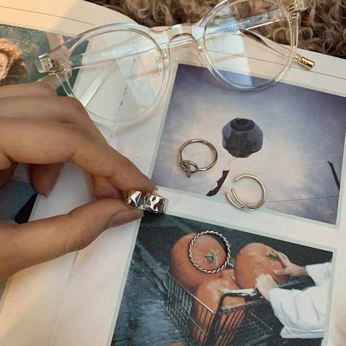 silver design set ring-0
