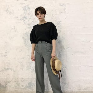 simple high waist pants