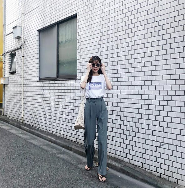 simple high waist pantsの画像17枚目