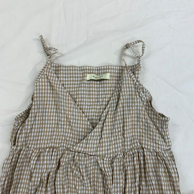 gingham check cami ops