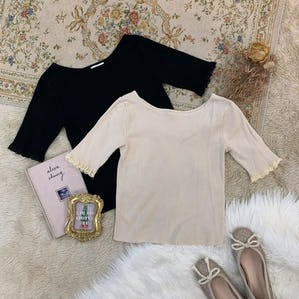 mini fril sleeve tops