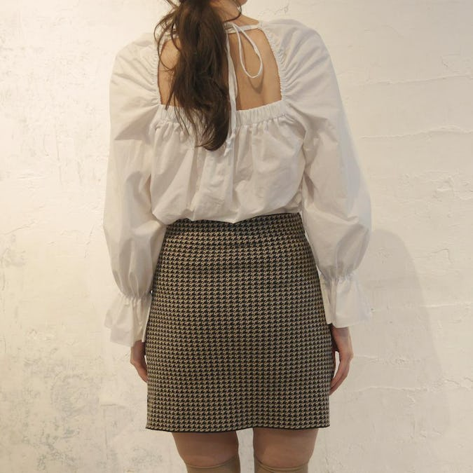 square frill blouse-0