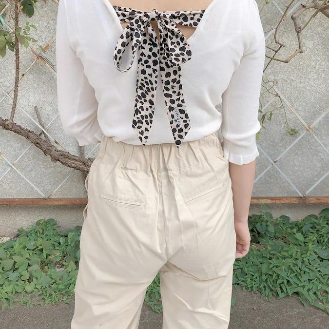 catty back ribbon knit