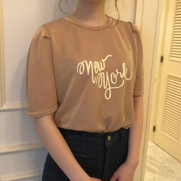 グリッターパフTシャツの画像1枚目