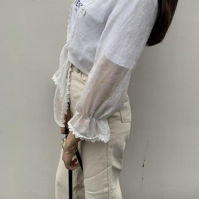 lace chiffon cardigan