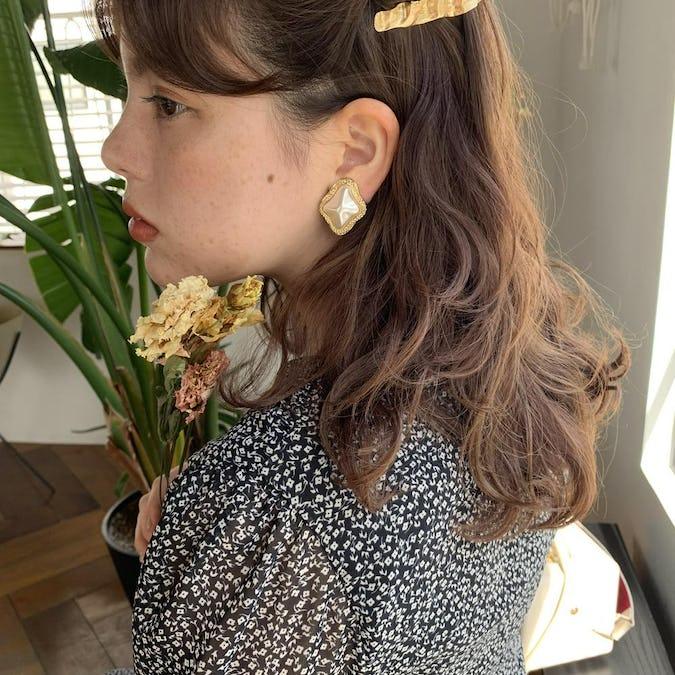 antique opera earring