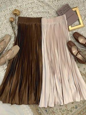 shine pleats skirt