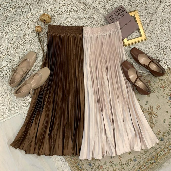 shine pleats skirt-0