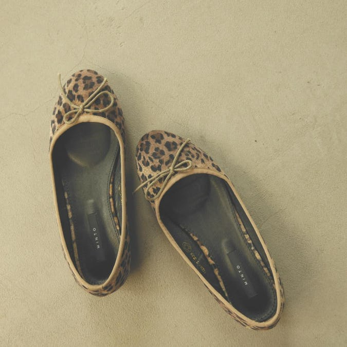 leopard ballet shoes