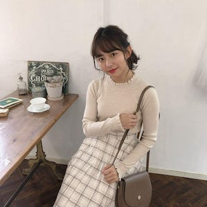 simple frill knit
