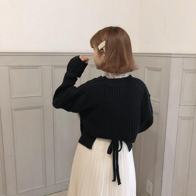 back ribbon knit
