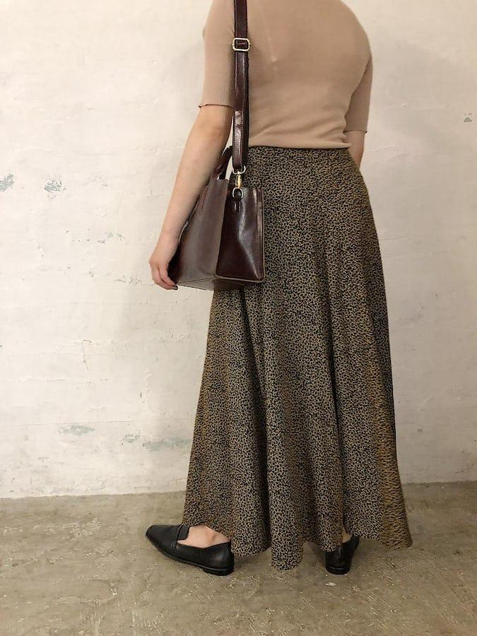 leopard long skirt
