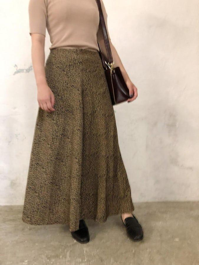 leopard long skirt-0