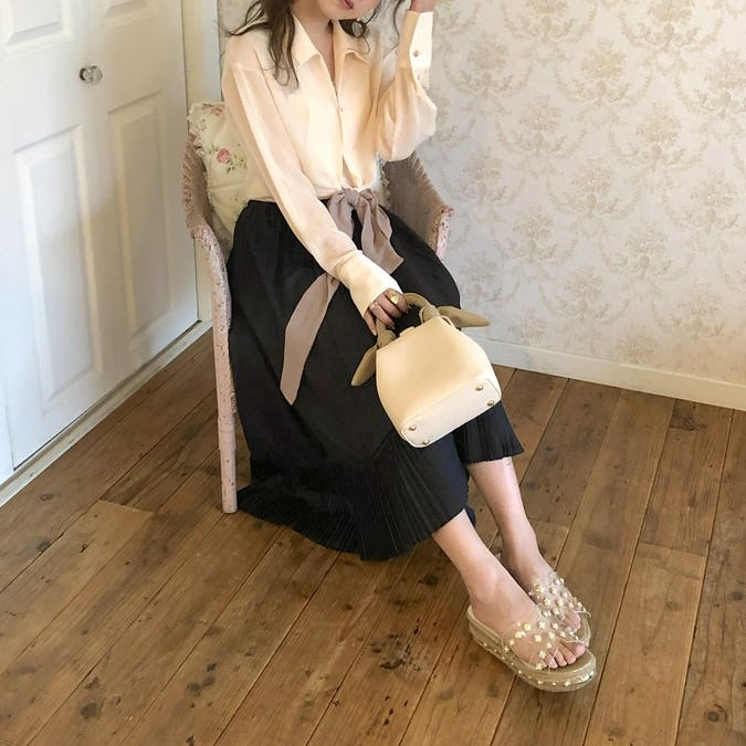 2way ribbon antique bag
