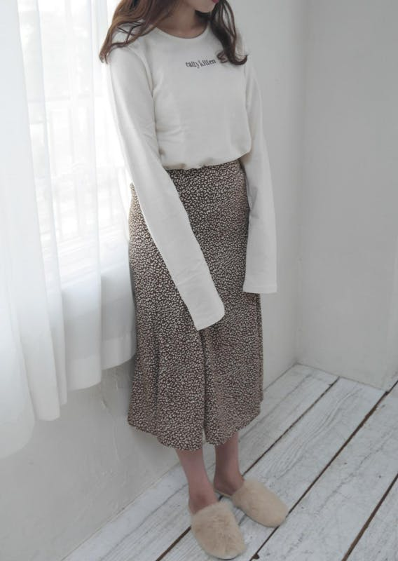 プチレオパードスカートの画像1枚目