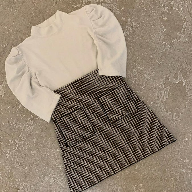 glitter puff knit