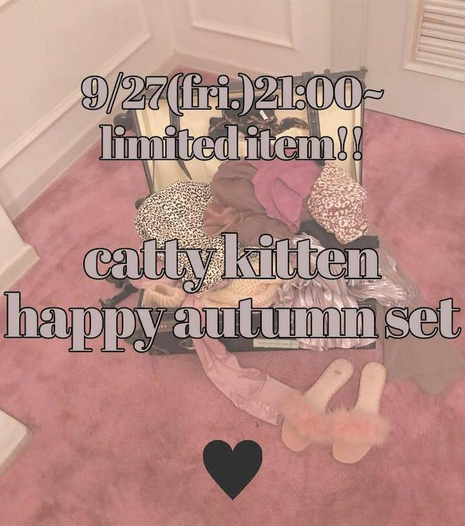 catty kitten happy autumn set