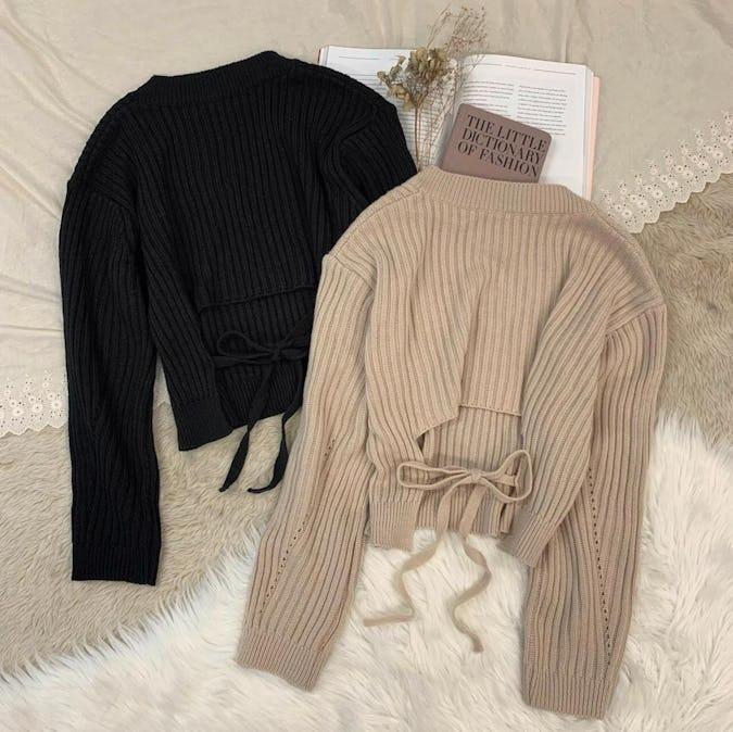 back ribbon knit-0