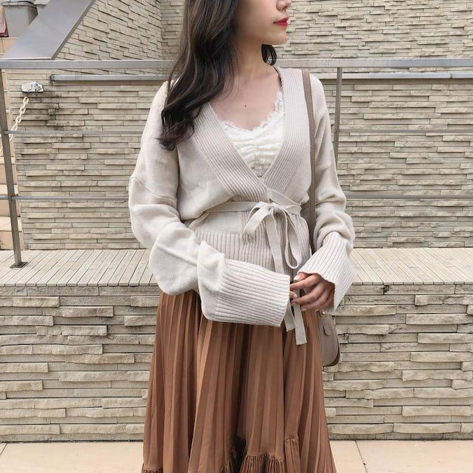 yura yura pleats skirt