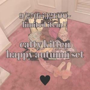 catty autumn happy set