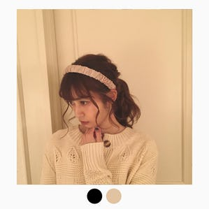【11/20~順次発送】satin shirring headband