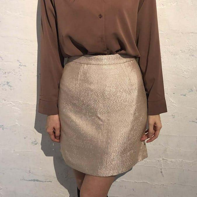 glitter mini skirt-0
