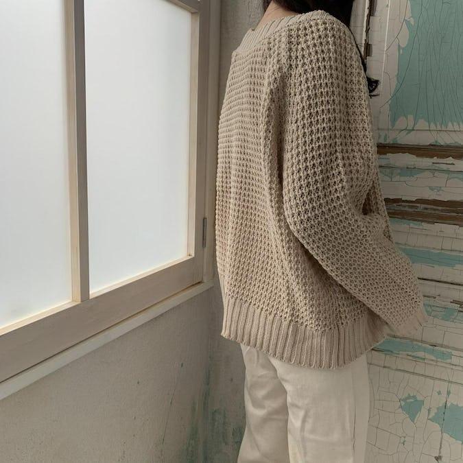 big knit cardigan