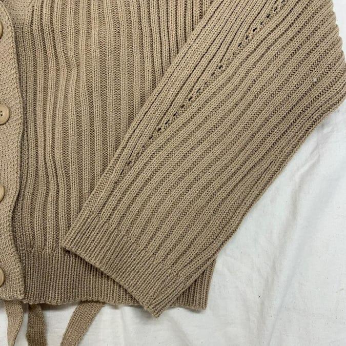 back ribbon cardigan