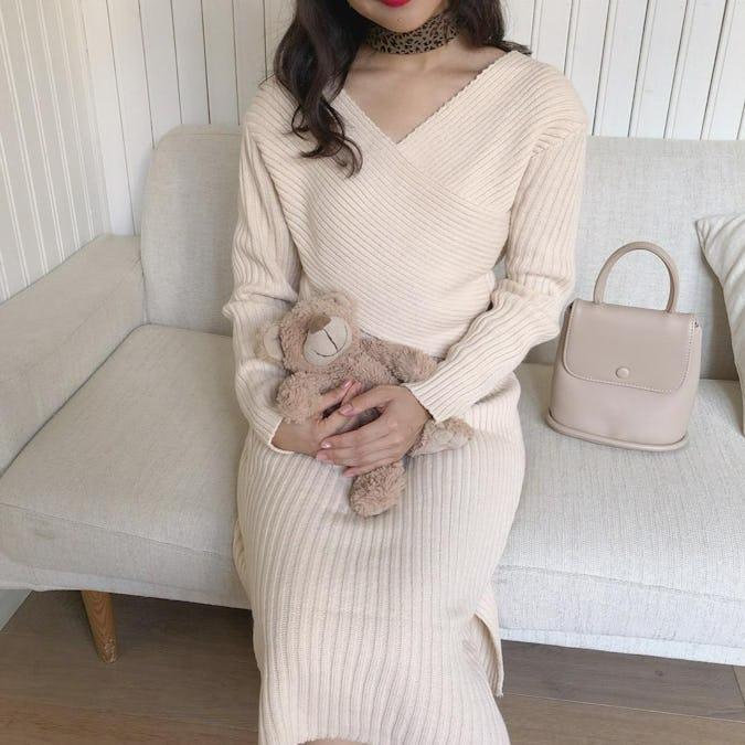 【10/14~順次発送】feminine knit set up
