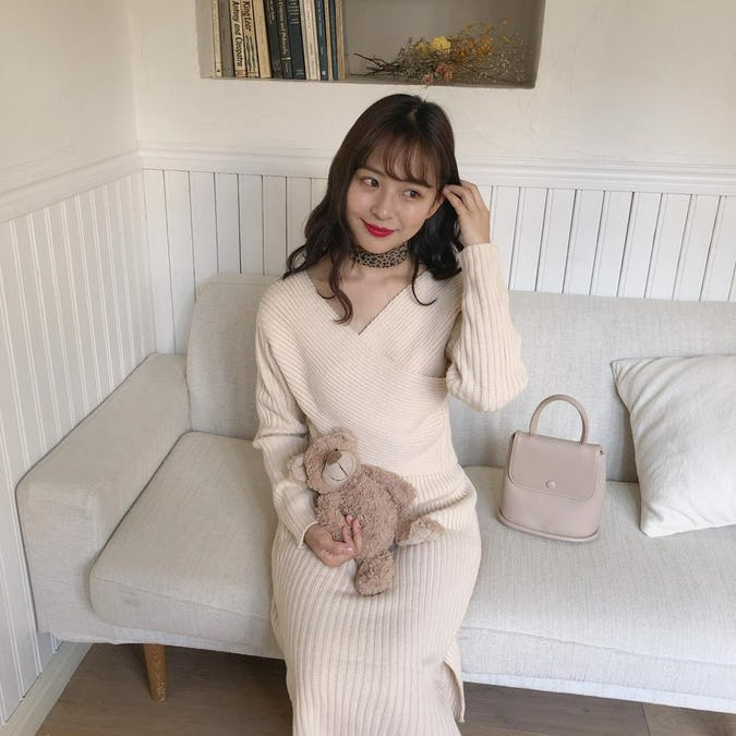 【10/14~順次発送】feminine knit set up-0