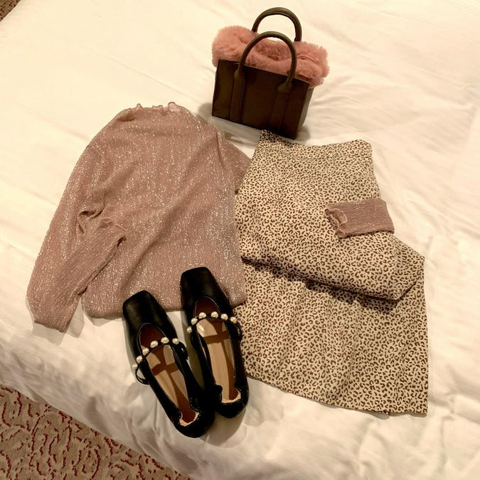 girly leopard skirt