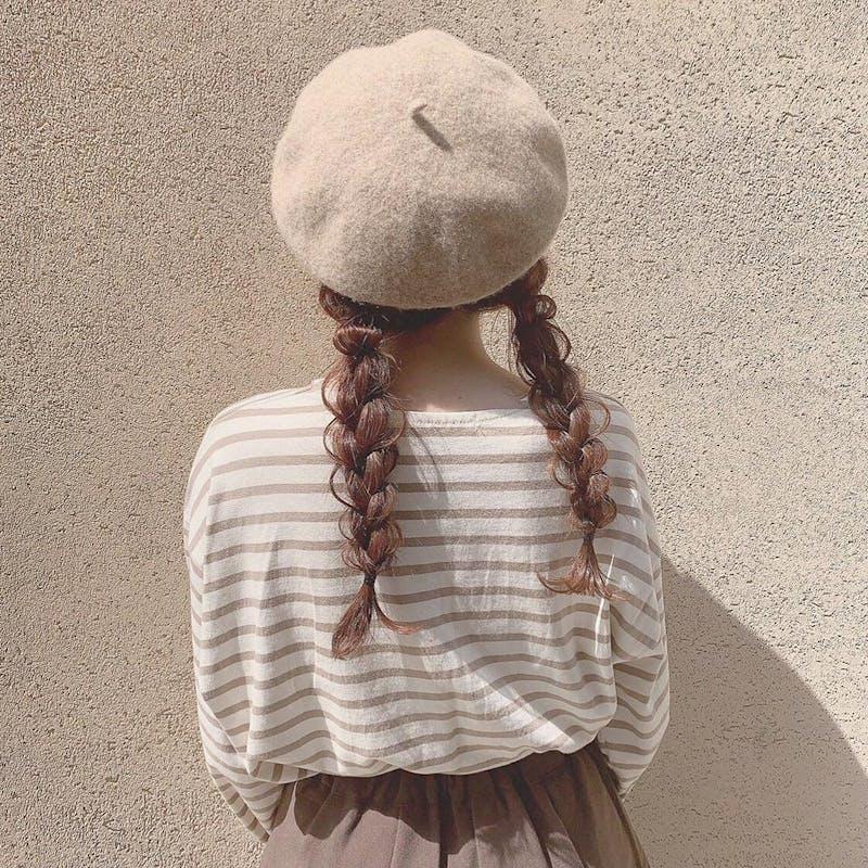 ふわふわベレー帽の画像1枚目