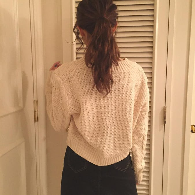 vintage cable cardigan