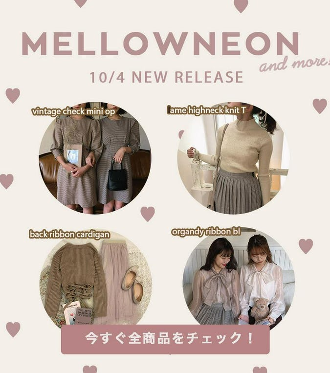 mellowneon 10/4 New release items