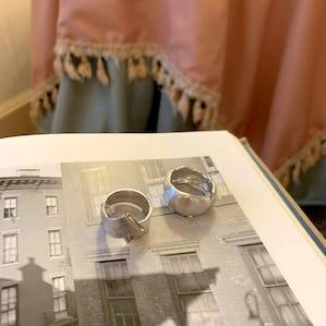silver vintage ring set